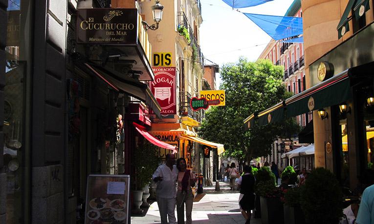 A street in Madrid, Spain