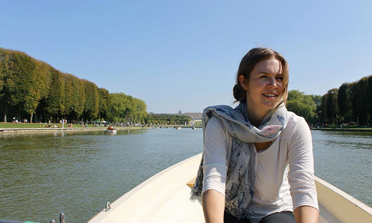 Rowing on the pond at Versailles, France