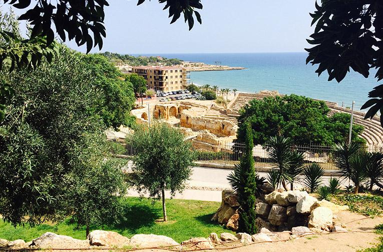 Roman ruins on the Mediterranean coast in Tarragona, Spain