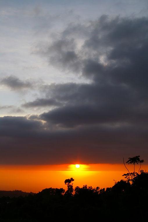 Sunrise at Mount Merapi in Indonesia