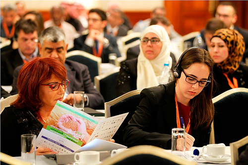 Attendees at the 2014 Arab Forum for Environment & Development in Amman, Jordan