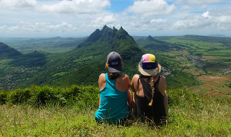 Mountain view from Le Pouce peak in Mauritius