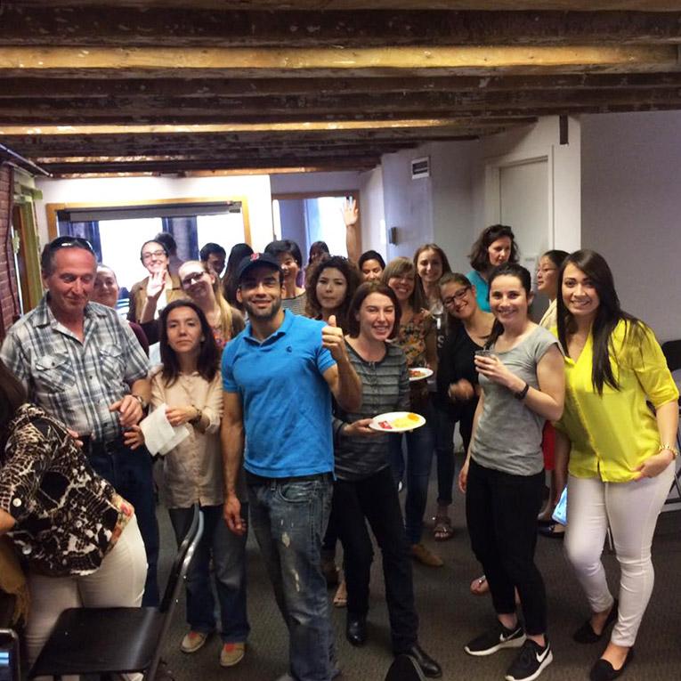 CELTA graduation party at Teaching House in Boston, Massachusetts