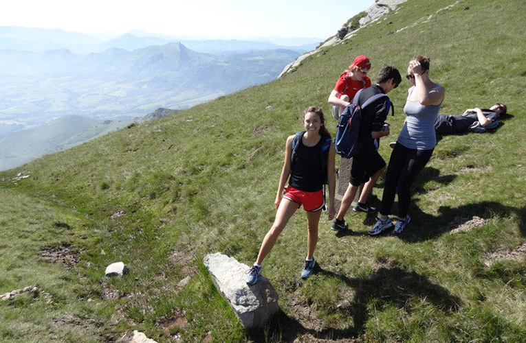 Hiking in the Pyrenees Mountains