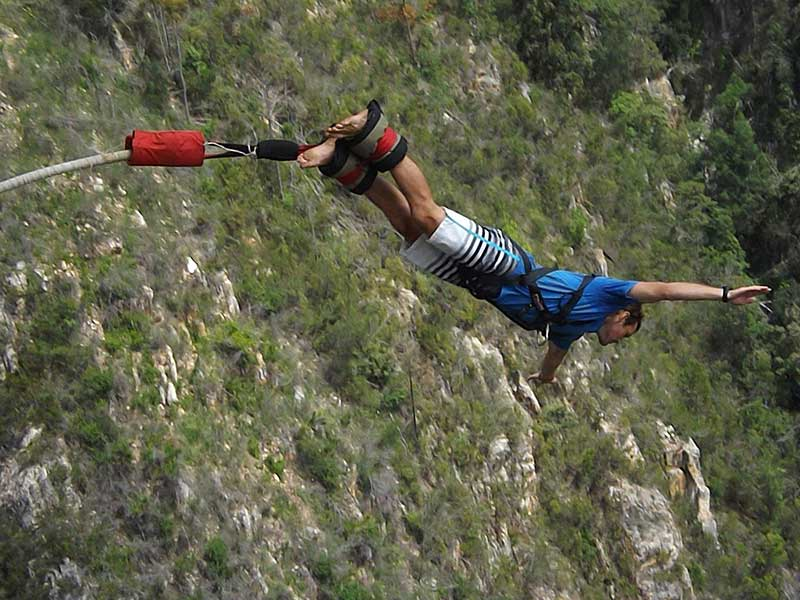Bungee Jumping off the Bloukrans Bridge in South Africa