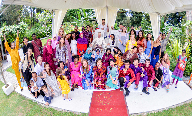 Wedding guests in Malaysia