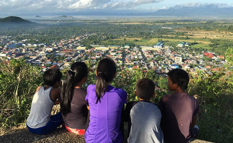 View of Palo, Leyte, Philippines from a mountaintop