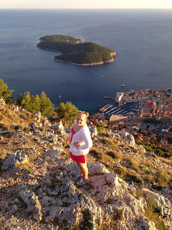 View of Dubrovnik, Croatia from above