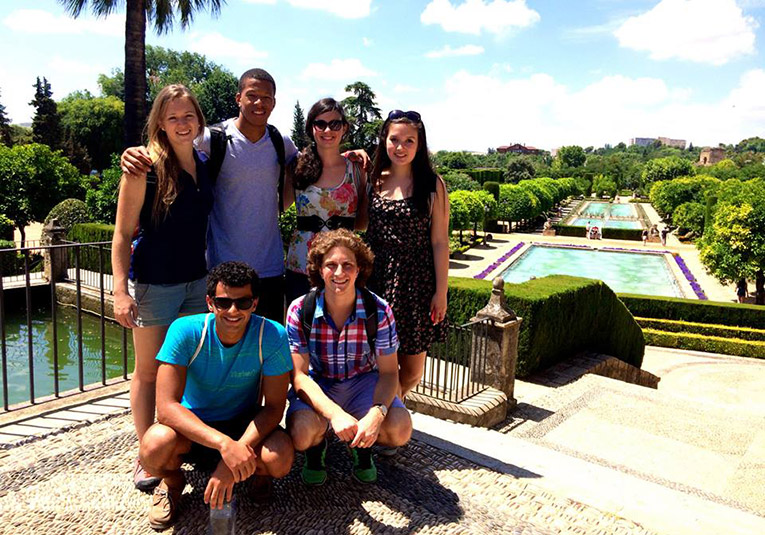 Study abroad students in Cordoba, Spain