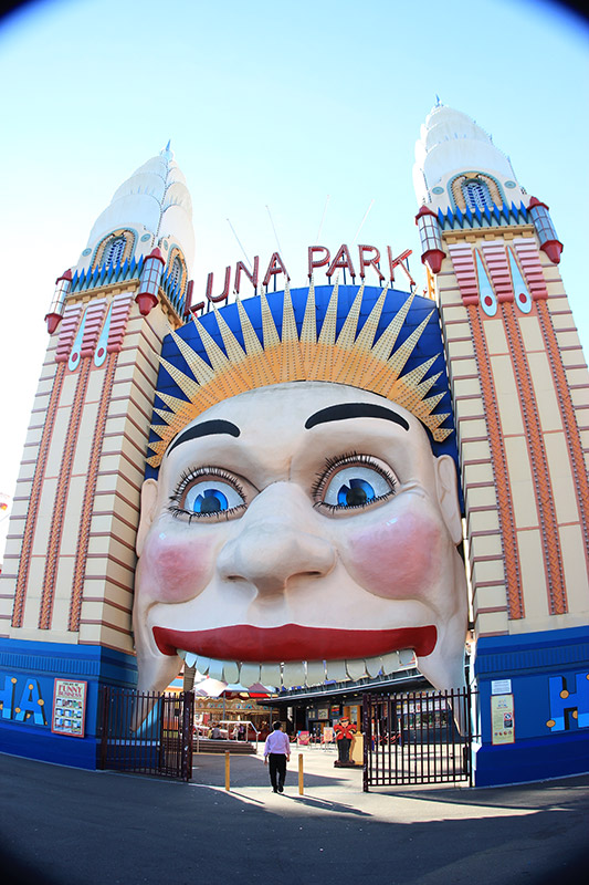 Gateway to Luna Park in Sydney, NSW, Australia