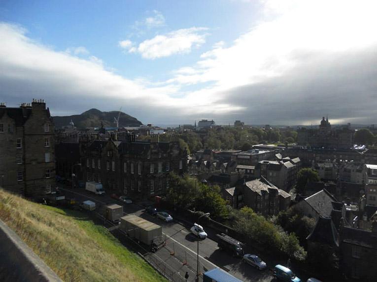 Old Town, Edinburgh, Scotland near the Edinburgh Castle