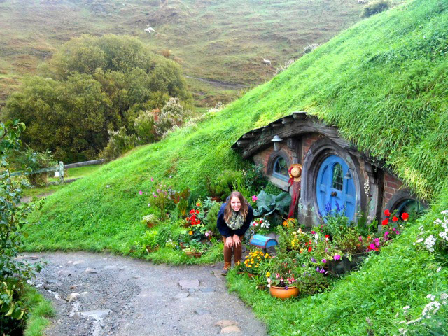 Visiting the Hobbit film set in Matamata, New Zealand