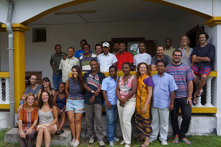 Azafady volunteers at the office in Fort Dauphin, Madagascar