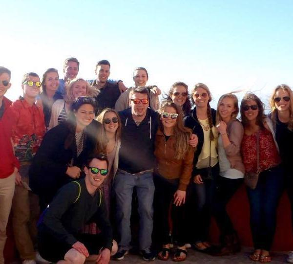 Study Abroad group photo in Spain