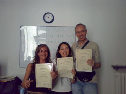 Participants with their certificates