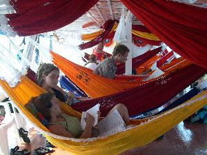 participants lying on their hammocks