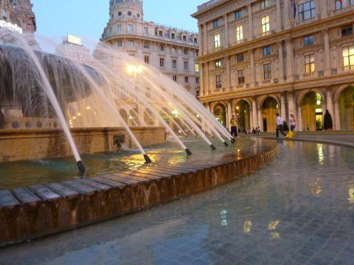 Piazza De Ferrari in Genoa, Italy