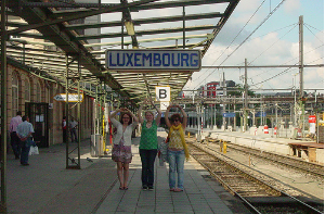 Train station in Luxembourg