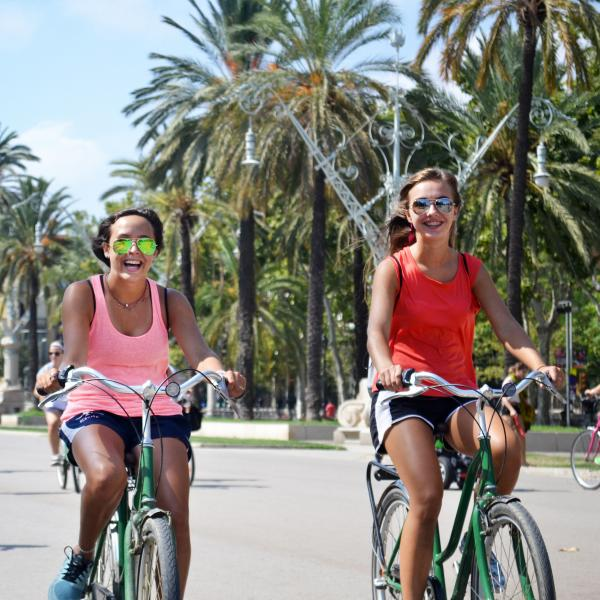 Barcelona, Spain, Teen Travel, Biking, Palm Trees