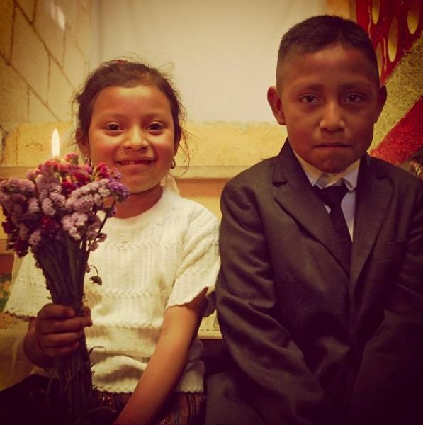 Children of Guatemala in formal clothes