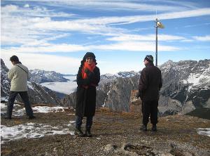 Ski slopes in the Austrian Alps