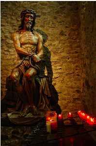 Statue of Jesus in Belgian cathedral