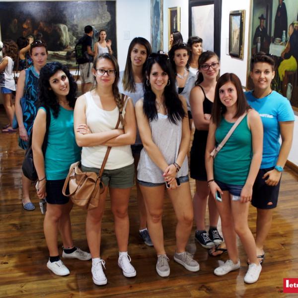 Alumnas visitan el Museo de Bellas Artes