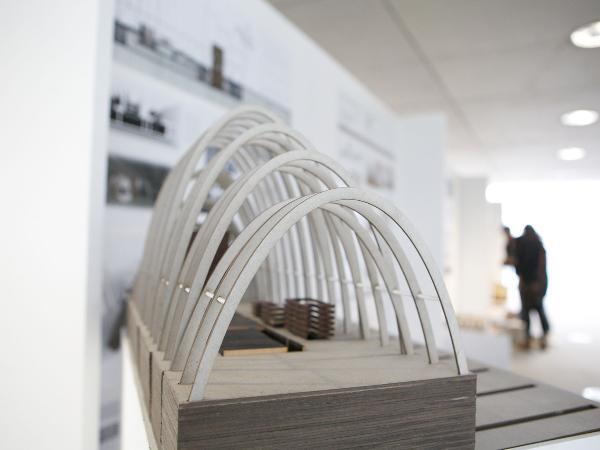 Architectural model in the design studio