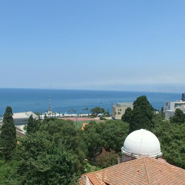 An aerial view of AUB