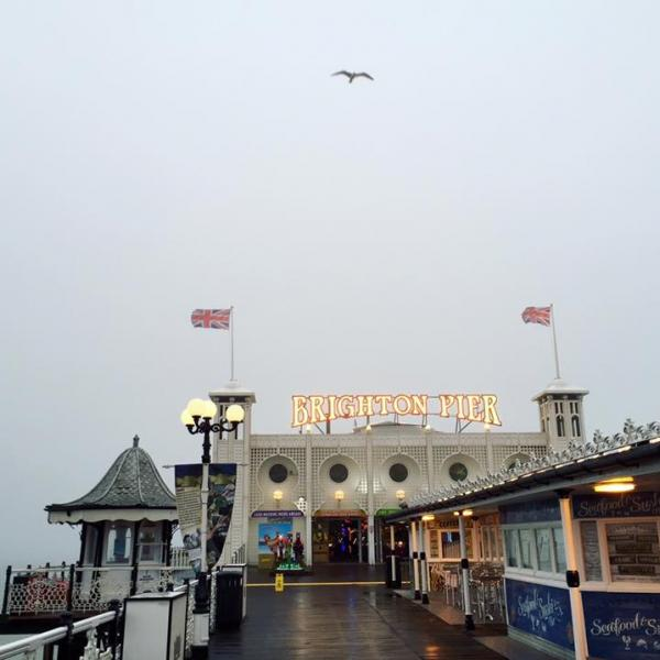 Brighton Palace Pier in the Sea Mist