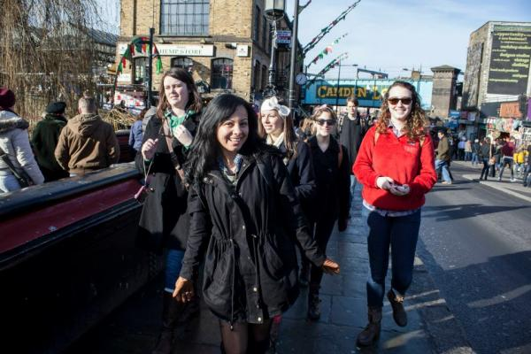 London SAE students on excursion in Camden Town (London)