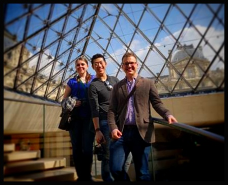 Under the Pyramid at the Louvre