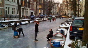 Frozen Canals in the Netherlands