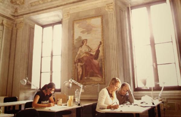 studying beautiful art
