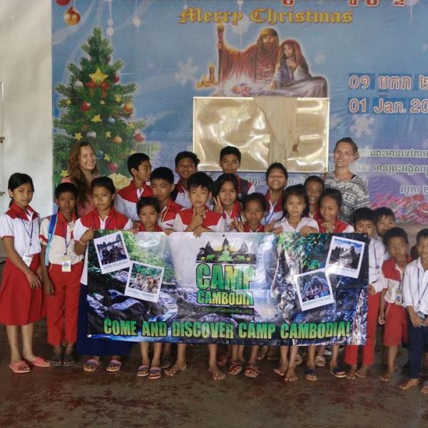Cambodia Trip Volunteer Teaching at Angkor Wat School Siem Reap