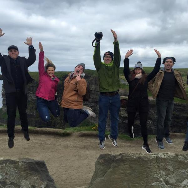 Dublin Students at Cliffs of Moher