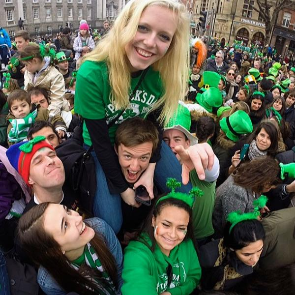 Dublin Students on Saint Patrick