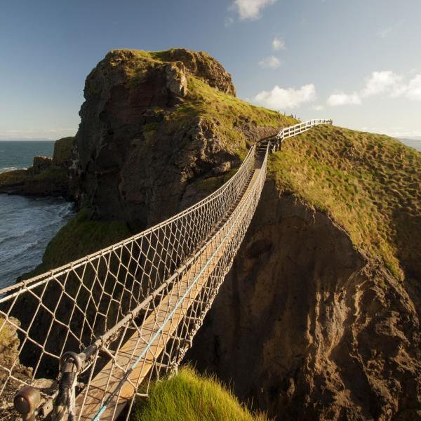 Rope bridge in County Antrim