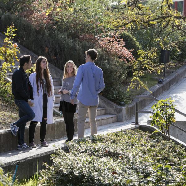 Students on San Pablo CEU University Campus