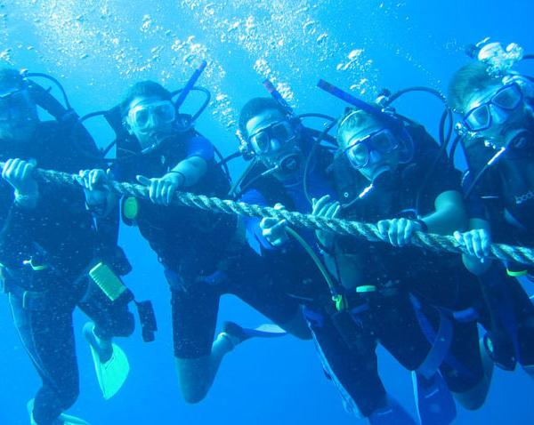 Seamester, study abroad at sea, scuba diving
