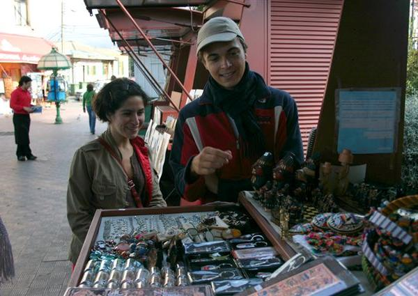 Street Stall - Intern in Chile - Adelante Abroad