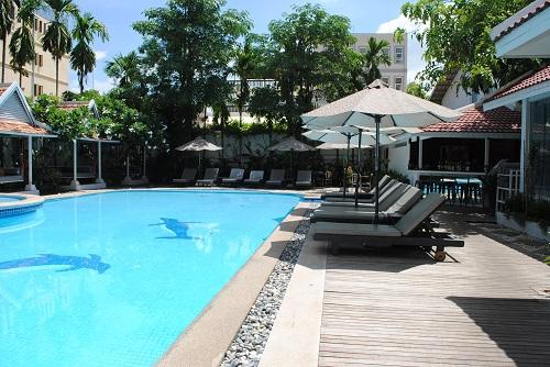 On weekends hit the pool in Siem Reap, Cambodia - TEFL experiences