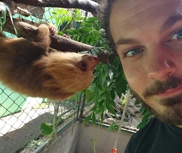 Volunteering at CR Animal Rescue Center in Alajuela, Costa Rica.