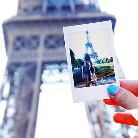 Paris, France, Teen Travel, South of France, Nice, Monaco, French Riviera, Eiffel Tower, Polaroid