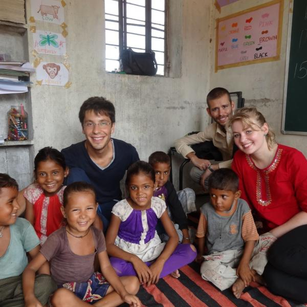 Working with Children Program in India with Love Volunteers!