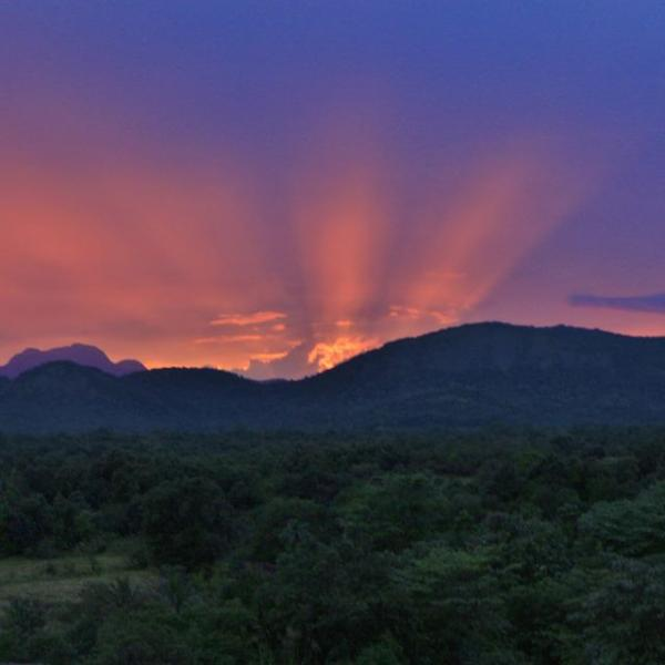 beautiful sunset in Sri Lanka