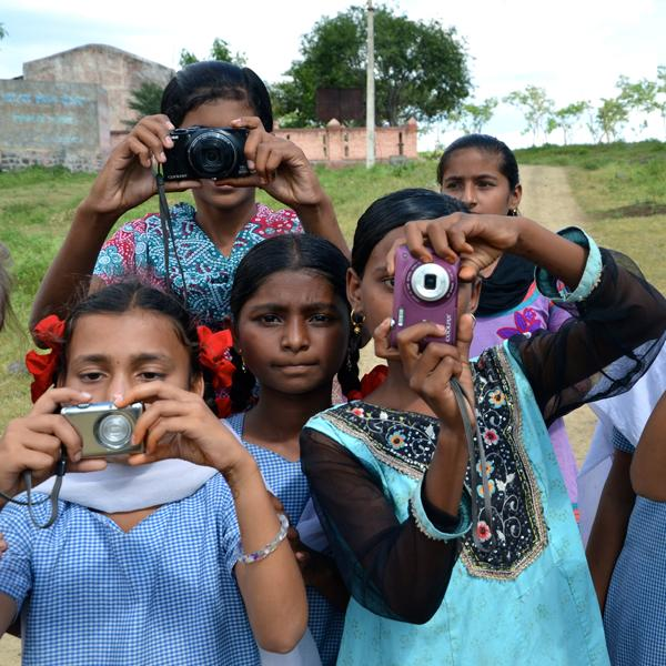 Indian girls, cameras, community