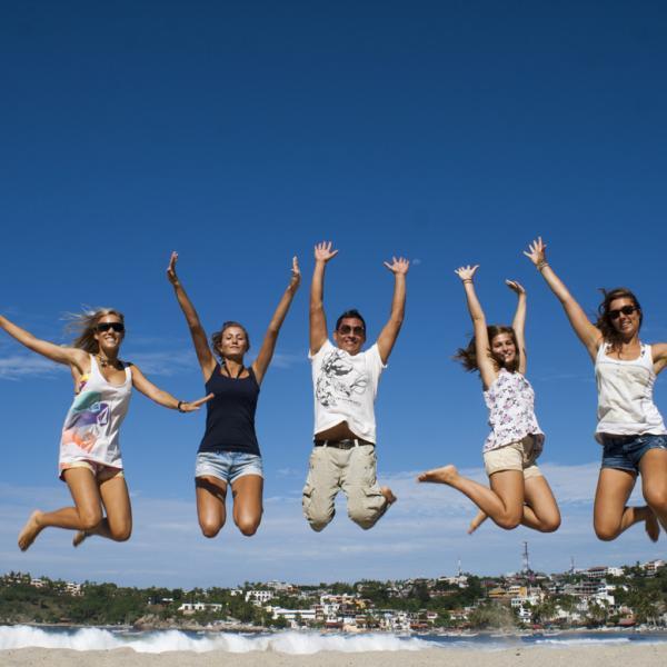 Having Fun with Experiencia Students in Puerto Escondido