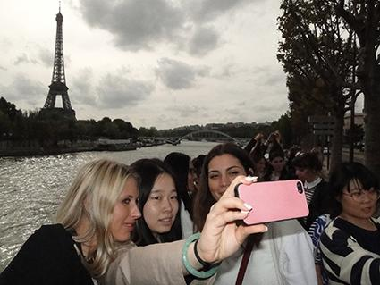 Students discover Paris