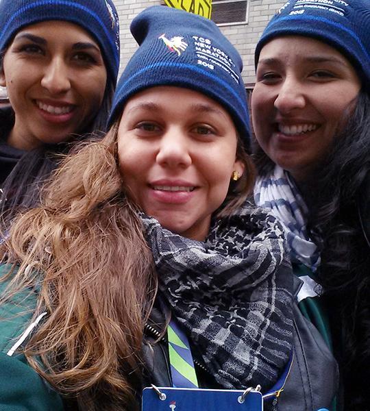 Volunteering at the NYC Marathon in 2015